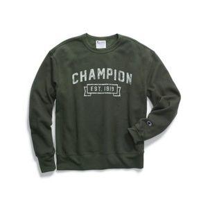 Champion Men's Heritage Fleece Crew, Logo with 191